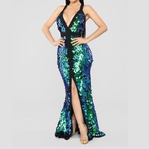 FASHION NOVA Mystical Creature Iridescent Dress